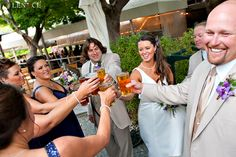 Cheers! Karl Strauss Wedding. Photo courtesy of Lenoce Photography.