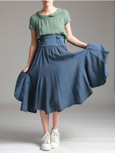 FULL SKIRT DRESS COMBINED WITH JERSEY - JACKETS, JUMPSUITS, DRESSES, TROUSERS, SKIRTS, JERSEY, KNITWEAR, ACCESORIES - Woman -