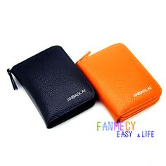 New Fashion Unisex Genuine Wallets Card Holder Pocket Purse Key Card Case Pouch Mini Handbag Coin purse