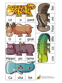 Read In French, French Class, Summer Camp Activities, Toddler Activities, Teaching French, Teaching Spanish, French Worksheets, Puzzles, Preschool Kindergarten