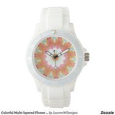 Colorful Multi-layered Flower Kaleidoscope Wrist Watch