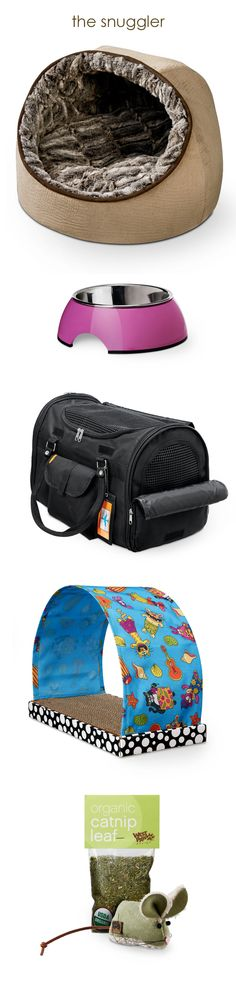 The Snuggler: Furry Friends Hooded Snuggler 59.99   Petmate Melamine Bowl with Stainless Steel Insert 9.99   Prefer Pets Carrier with Privacy Panels 49.99   Fat Cat Kitty Kahuna Scratcher 19.99   West Paw Design Barn Mouse Toys and Organic Catnip Leaf Bags 4.99–11.99 Prices and selection vary by store. See additional colors, sizes and patterns in-store. #UNLstyle