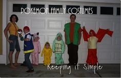DIY Pokemon Family Costumes #pokemon #halloweencostumes #familycostumes @keepingitsimple