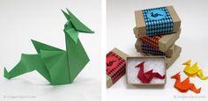 Origami Dragon - design by Emilson Nunes Dos Santos (Brazil) - folded by Leyla Torres, Origami Spirit