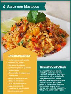 77 best recipe cards tips images on pinterest recipe cards easy arroz con mariscos quericavida tip guarda la receta en tu smartphone forumfinder Images
