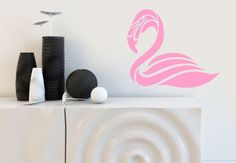 Wandtattoo Flamingo (abstrakt) von wall-art.de