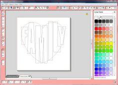 The Sensory Emporium: Tutorial--Making a Word into A Heart on Silhouette Studio