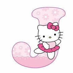Hello Kitty Face Paint, Hello Kitty Art, Hello Kitty Birthday, Cat Birthday, Letter J Design, Alphabet Letters Design, Alphabet Templates, Hello Kitty Pictures, Kitty Images