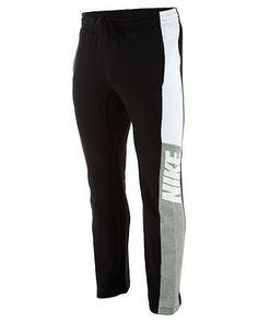 Nike Track Pant Mens  Mens Track Pants 616500-010 Black / White  SZ-XL
