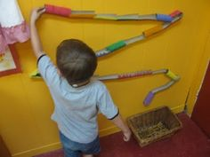 Rainbow Marble Run!   I saw this really cool marble run-did it with my grandson while I babysat today, and he was busy for over an hour and had a blast!  Great for his little motor skills too! WOOHOO!!!
