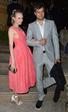 Diane Kruger and Joshua Jackson at the Calvin Klein 'Women in Film' party. Cannes 2012