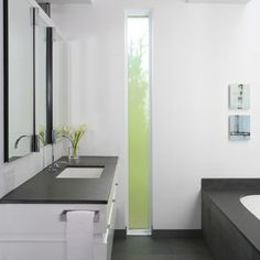 Vertical window, good light, more privacy