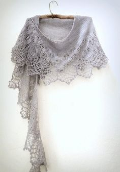 Cloud Illusions Pattern by Boo Knits. I'm knitting this right now and it is SUCH an easy pattern, perfect for a first-time lace project. It's logical and easy to see *as* you're knitting. by cindy.buentello.73