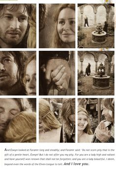 Eowyn and Faramir.  This part in the book just slays me
