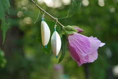 Sterling Silver Shell and Swarovski Crystal by KarmaKittyJewelry, $14.00