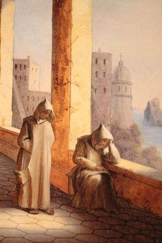 Frères_dans_la_Chartreuse_de_San_Giacomo_à_Capri Religion, San Bruno, Quotes By Famous People, Saint, Roman, Scenery, Christian, Altar, Painting
