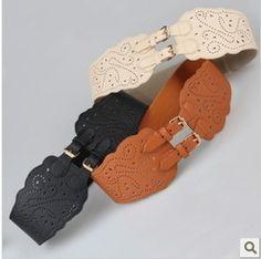 Online Shop New 2014 woman belt Fashion vintage cutout cummerbund pin buckle elastic women's wide belt decoration women's belt Aliexpress Mobile