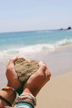 i left my heart on the beach. #beach