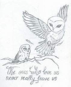Mother Daughter Owls (Tattoo concept) by Luvella.deviantart.com on @DeviantArt
