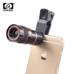 APEXEL Universal 8X Zoom Telescope Telephoto Camera Lens Mobile Phone Lente For iPhone 6 7 Plus Samsung S8 S7 Galaxy Note CL-19B