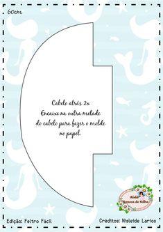 Mermaid Baby mobile - Sea Creatures Mobile - Ocean Mobile - Felt Mobile - Cot Mobile - Crib Mobile - Her Crochet Mermaid Toys, Baby Mermaid, Bear Felt, Cot Mobile, Crochet Mermaid, Felt Patterns, All Craft, Photo Craft, Fabric Dolls