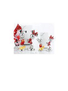 Topolino - Topolina  Walt Disney new collection in resina argentata colorata H 15 cm, disponibile anche nella misura da 9,5 Car Bomboniere In promozione acquistabile su www.tiffanystore.it
