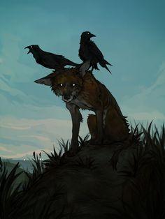 omen by mellowcollie on DeviantArt Dark Art Illustrations, Illustration Art, Animal Drawings, Cool Drawings, Fox Art, Art Tutorials, Art Inspo, Amazing Art, Art Reference