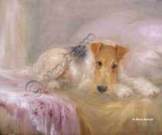 Beautiful art.... Chien Fox Terrier, Wirehaired Fox Terrier, Welsh Terrier, Fox Terriers, Wire Fox Terrier, Dogs And Puppies, Doggies, Dog Portraits, Little Dogs