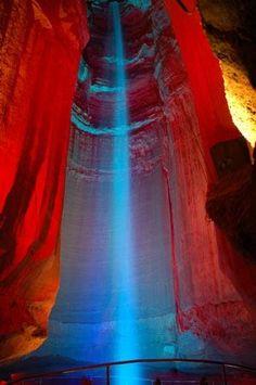 Ruby Falls, inside Lookout Mountain
