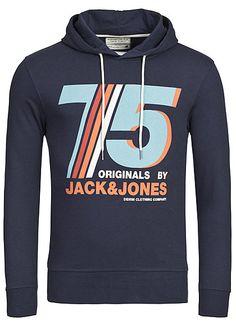 03b1842d2bcdaa Jack and Jones Hoodie Poul Sweat Kapuzenpullover Originals dress blau Jack    Jones Hoodies