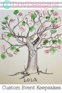 Hand Drawn Ink Guest Book Tree by DovDesigns on Etsy Shower Bebe, Baby Shower Fall, Baby Boy Shower, Baby Showers, Happy Room, Fingerprint Tree, Guest Book Tree, Book Drawing, In The Tree