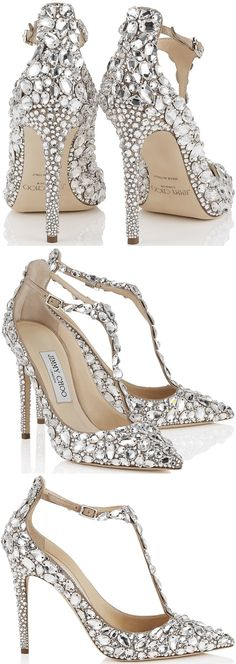 "Crystal-covered Jimmy Choo ""Storm"" pumps"