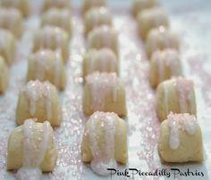Pink Piccadilly Pastries: Shimmering Pink Biscotti Regina Bites