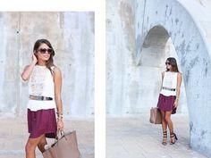 high-low burgundy skirt (via Bloglovin.com )