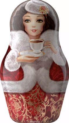 Russian Matryoshka Black Tea Caddy