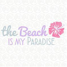 Plotter Freebie Schriftzug beach
