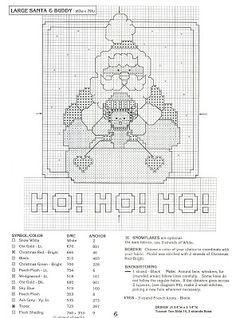 Punto de Cruz GRATIS: Santa Claus y sus amigos.