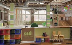 Little sprouts in the South Loop have a new place to play. Sod Room, an eco-friendly play space for crawlers through kindergarteners, has just opened in the historic Buick Building.