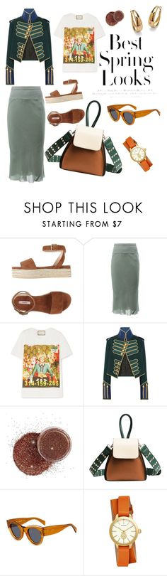 SS18 first look by bianca-pumilia on Polyvore featuring moda, Gucci, Burberry, Rick Owens, jucca, Tory Burch, Palm Beach Jewelry, CÉLINE and H&M