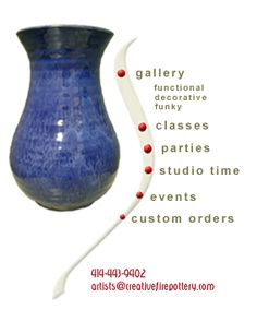 Gallery Classes Parties Studio Time Events Custom Orders Tuesday Wednesday
