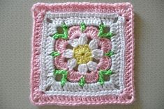 Free pattern on Ravelry: buttercup11's ZZ E version of Smoothfox's Just Peachy Blossom 6x6 pattern