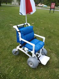 how to make a beach wheelchair