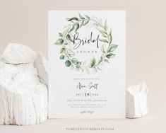 Bridal Shower Invitation Greenery Bridal Shower Invite | Etsy