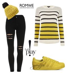 """Let's Play!"" by yviestyle ❤ liked on Polyvore featuring Therapy, adidas and Nirvanna Designs"