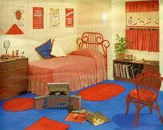 1960's bedroom 2    From Seventeen, March 1963