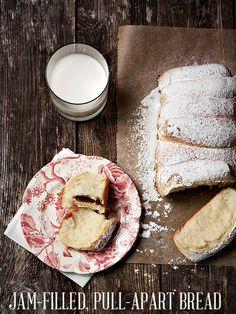 Raspberry Jam Filled Pull-apart Bread