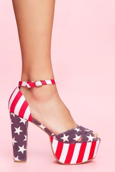 Nasty Girl, El Carmen Platform - American Flag. I want to make these happen on Forth of July.