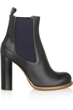 Chloé Leather Chelsea Boots #Refinery29. This leather looks so sumptuous. ♡