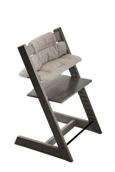 Stokke Tripp Trapp Cushion Hazy Tweed on Hazy Grey Chair