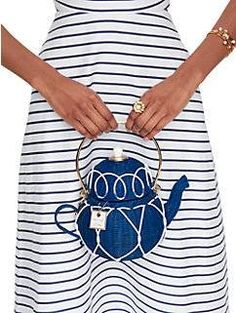 down the rabbit hole wicker teapot by kate spade new york